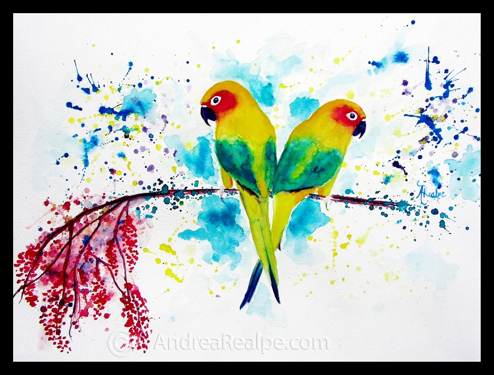 LoveBirds - watermark border