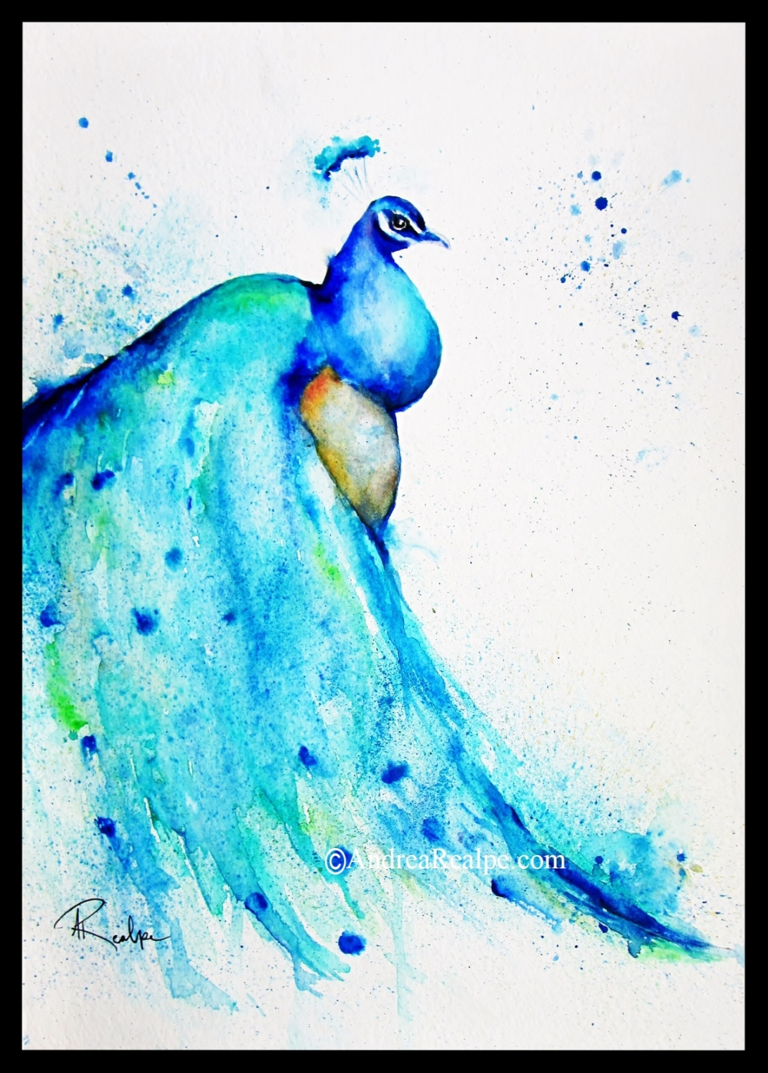 Blue Beauty Watercolor Painting