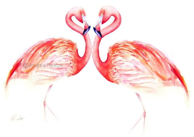 love flamingo copyright andrea realpe